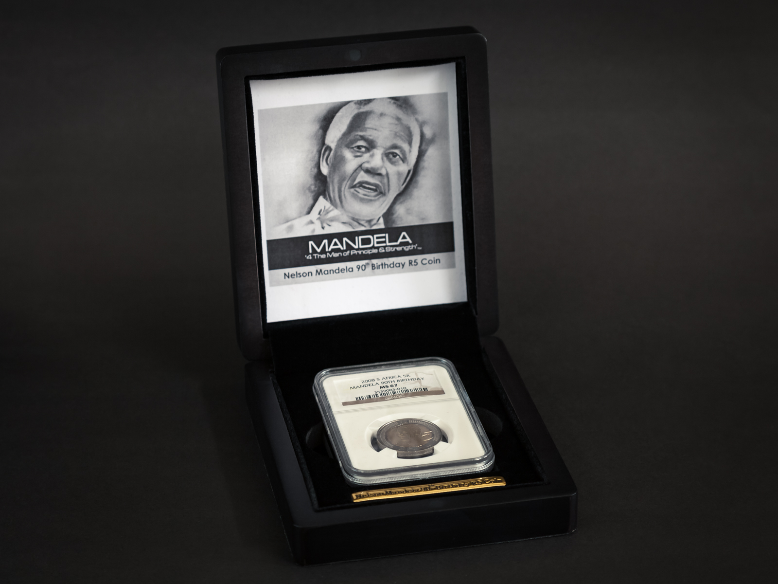 Mandela Coin Commemorative Box Open